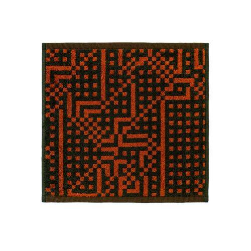 Zuzunaga - Route Black and Red / Orange Gesichtstuch, 30 x 30 cm