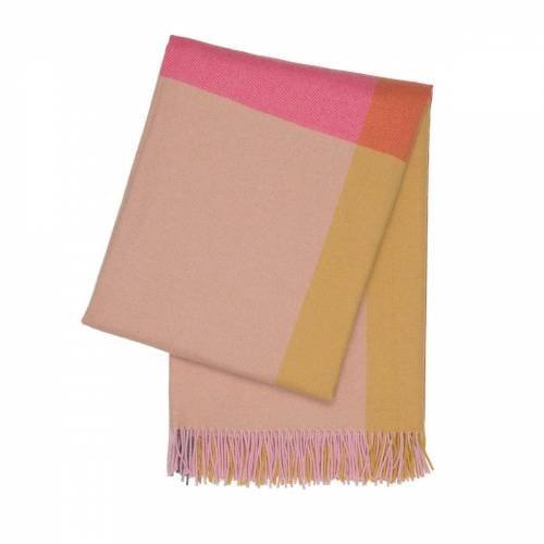 Vitra - Colour Block Decke, pink / beige