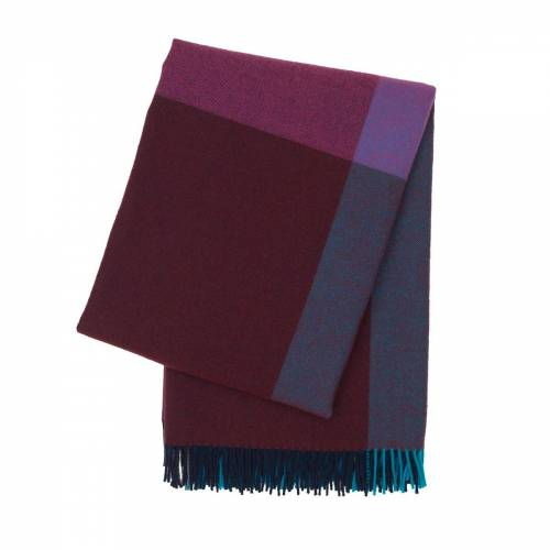 Vitra - Colour Block Decke, blau/ bordeaux