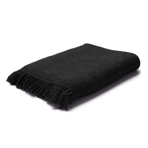 Juna - Land Wolldecke 180 x 130 cm, schwarz