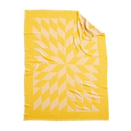 HAY - Star Wolldecke, 180 x 130 cm, gelb