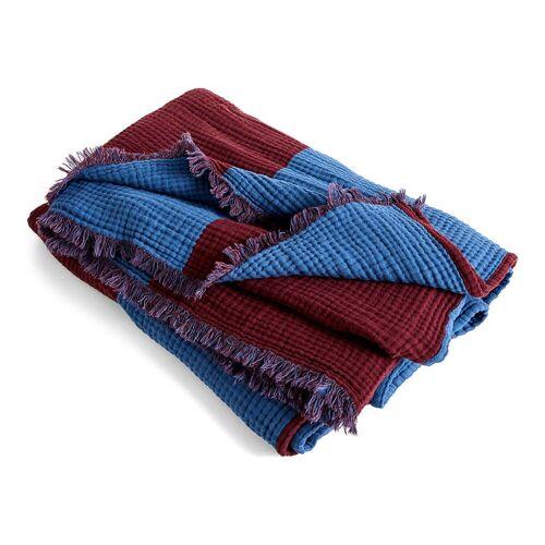 HAY - Crinkle Stripe Plaid, 210 x 150 cm, burgundy