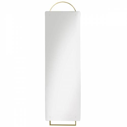 ferm LIVING - Adorn Messing-Spiegel Full Size, 45 x 159 cm, Messing
