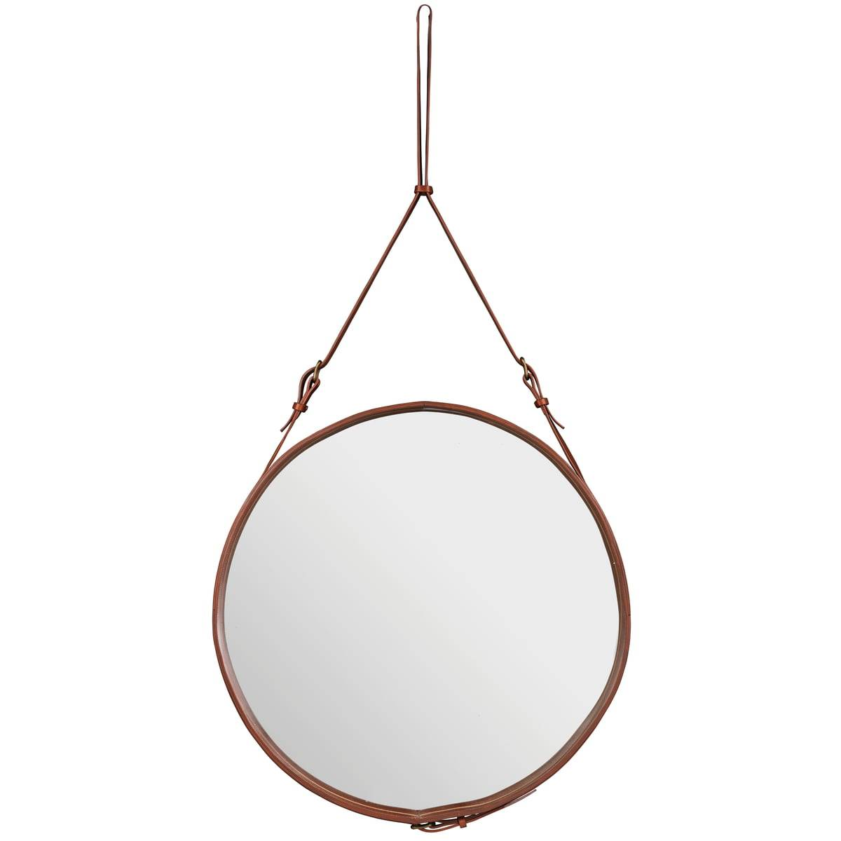 Gubi - Adnet Spiegel Ø 70 cm, braun