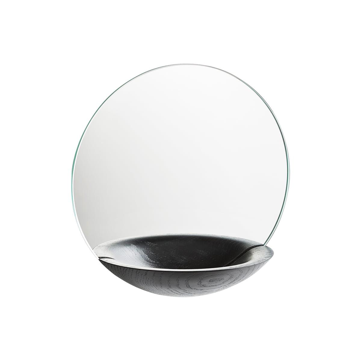 Woud - Pocket Wandspiegel small, schwarz