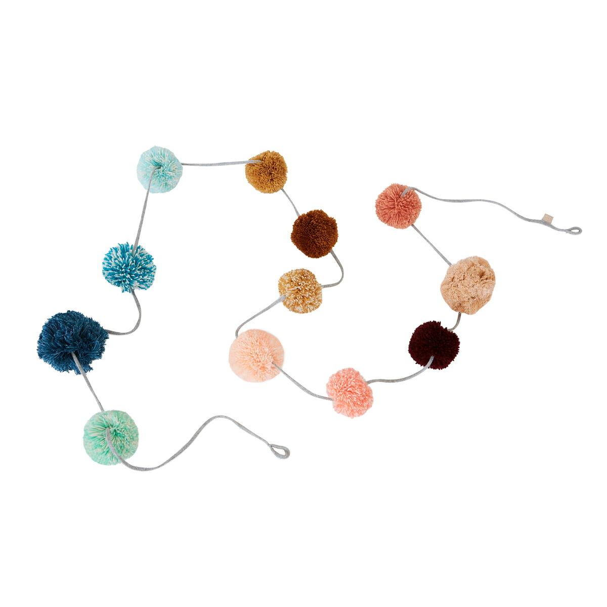 OYOY - Pom Pom Girlande, mehrfarbig
