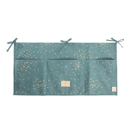 Nobodinoz - Merlin Babybett Utensilo, 60 x 30 cm, gold confetti / magic green