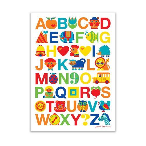byGraziela - Poster ABC, 50 x 70 cm