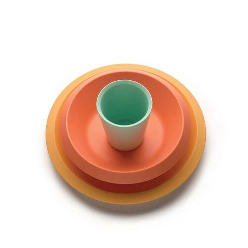 Alessi - Giro Kids Kindergeschirr S1, gelb / orange / grün (3-tlg.)