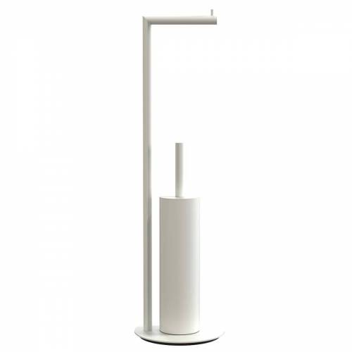 FROST - Nova 2 Toilettenpapierhalter und WC-Bürste freistehend, weiß