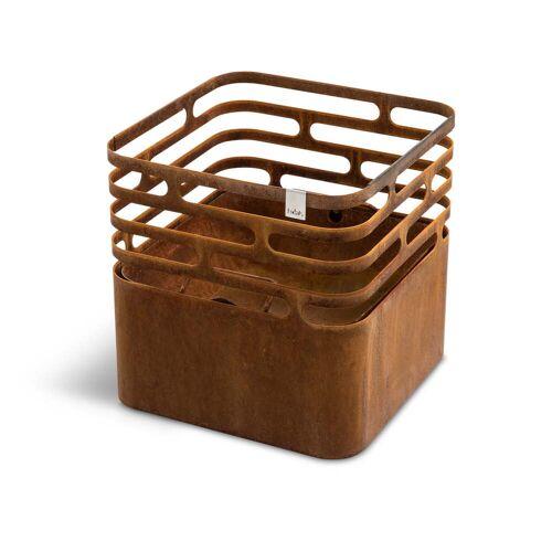 höfats - Cube Feuerkorb, Rostoptik