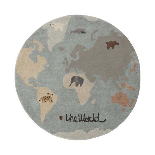 OYOY - World Spielteppich Ø 120 cm, multi