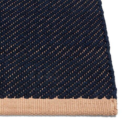 HAY - Bias Teppich, 170 x 240 cm, dunkelblau