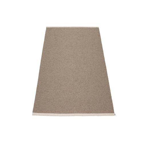 Pappelina - Mono Teppich, 60 x 150 cm, dark mud / mud