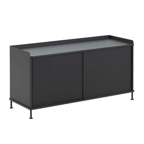 Muuto - Enfold Sideboard niedrig, schwarz