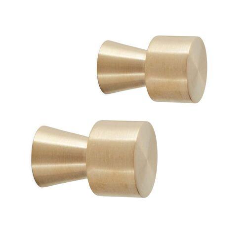 OYOY - Pin Wandhaken Ø 2,5 x L 3,5 cm , Messing (2er-Set)