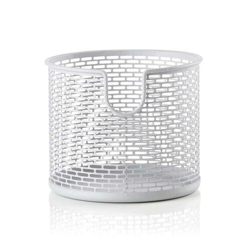 Zone Denmark - Metall Aufbewahrungskorb, Ø 12 x H 10 cm, weiß