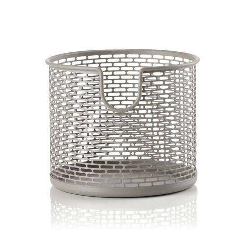 Zone Denmark - Metall Aufbewahrungskorb, Ø 12 x H 10 cm, taupe