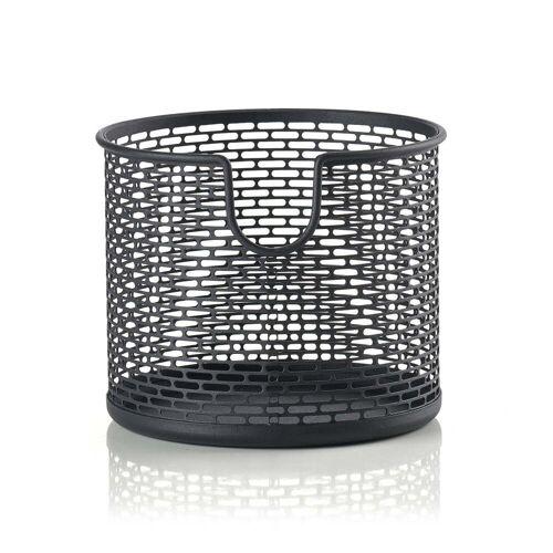 Zone Denmark - Metall Aufbewahrungskorb, Ø 12 x H 10 cm, schwarz