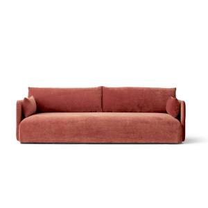MENU - Offset Sofa, 3-Sitzer, samt rot (city velvet CA7832-062)