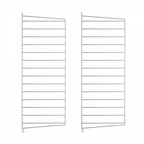 String - Wandleiter für String Regal 75 x 30 cm (2er-Set), grau