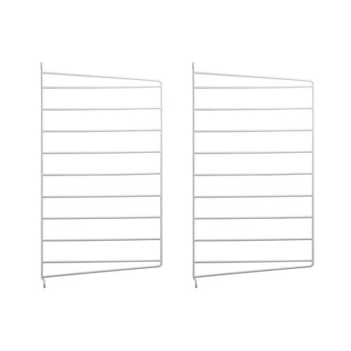 String - Wandleiter für String Regal 50 x 30 cm (2er-Set), weiß