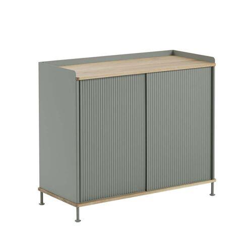 Muuto - Enfold Sideboard hoch, Eiche / dusty green