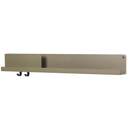 Muuto - Folded Shelves 96 x 13 cm, oliv