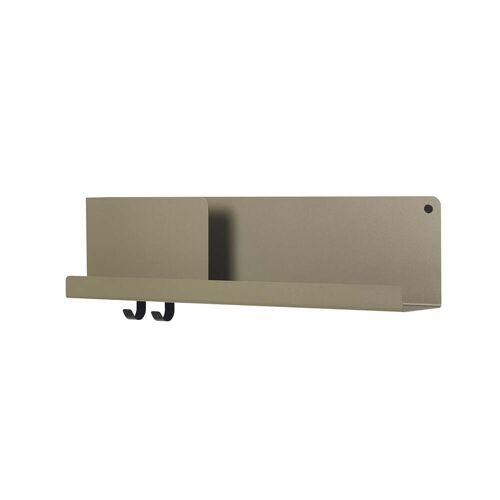 Muuto - Folded Shelves 63 x 16,5 cm, oliv