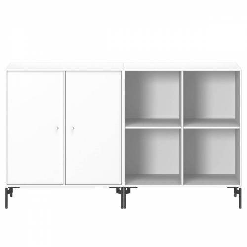 Montana - Pair Sideboard mit Beinen, new white