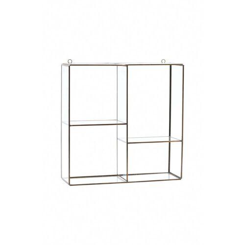 House Doctor - Keeper Wandregal / Vitrine H 33 cm, Messing / Glas
