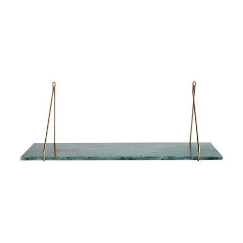 House Doctor - Marmor Wandregal, 24 x 70 cm, Messing / Mormor grün