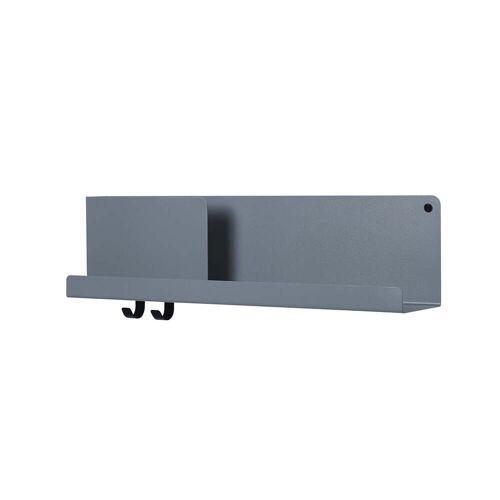 Muuto - Folded Shelves 63 x 16,5 cm, blau-grau