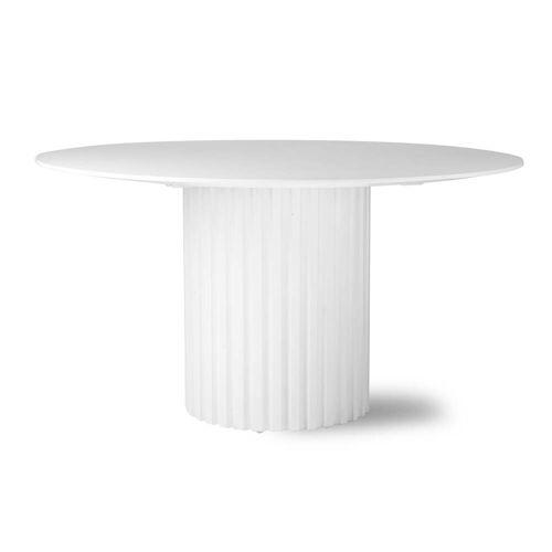 HKliving - Pillar Esstisch rund, Ø 140 cm, weiß