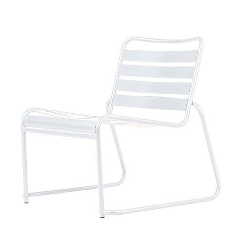Fiam - Lido Metall Lounge-Sessel, weiß