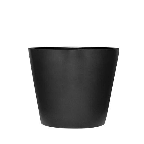 Amei - Der Runde Pflanzkübel, S, schwarz