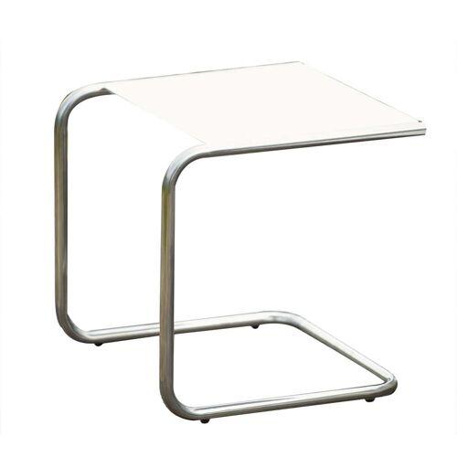 Fiam - Club Beistelltisch, Aluminium / weiß