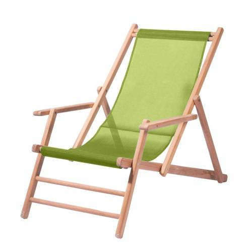 Jan Kurtz - Maxx Deckchair Teakholz, Bezug Kunststoffgewebe pistazie