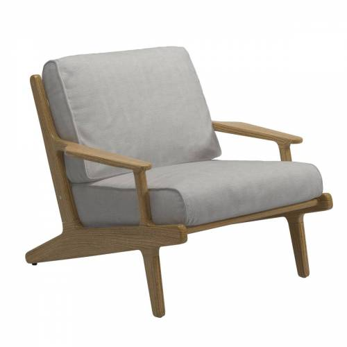 Gloster - Bay Lounge Chair, Teak / seagull