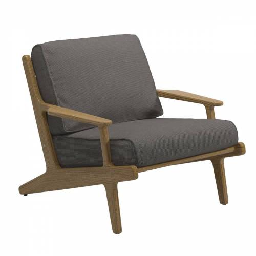 Gloster - Bay Lounge Chair, Teak / granite