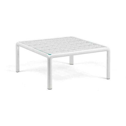 Nardi - Komodo Gartentisch 70 x 70 cm, Glas / weiß