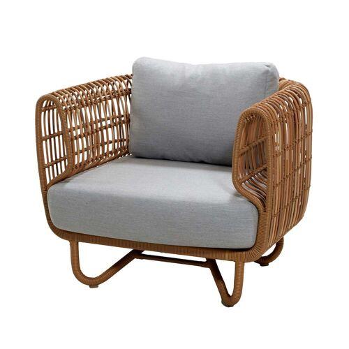 Cane-line - Nest Loungesessel Outdoor, natur / hellgrau