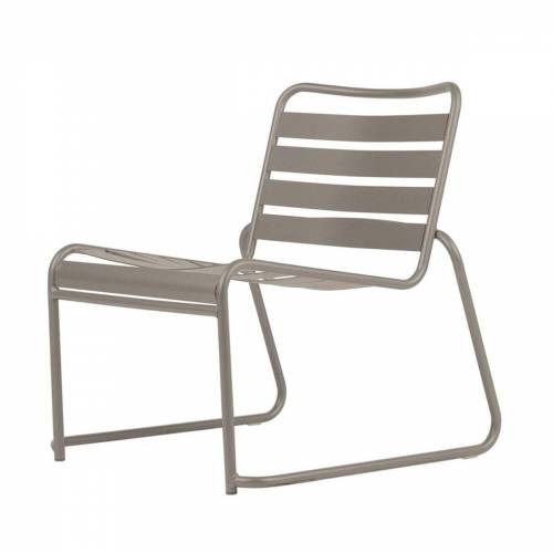 Fiam - Lido Metall Lounge-Sessel, taupe