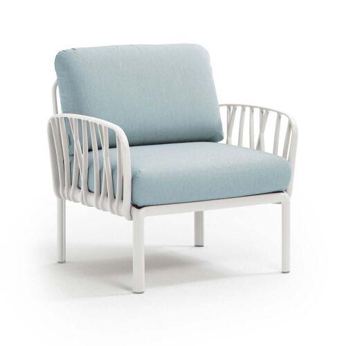 Nardi - Komodo Poltrona Sessel, weiß / eisblau