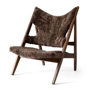 MENU - Knitting Chair, Eiche dunkel gebeizt / Sheepskin Drake 20