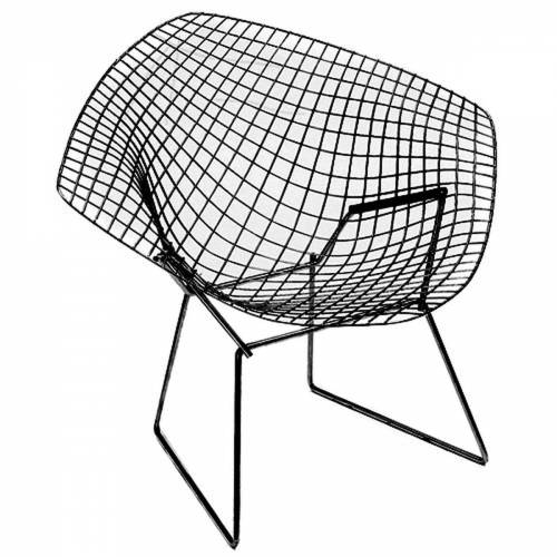 Knoll - Bertoia Diamond Outdoor-Sessel, schwarz