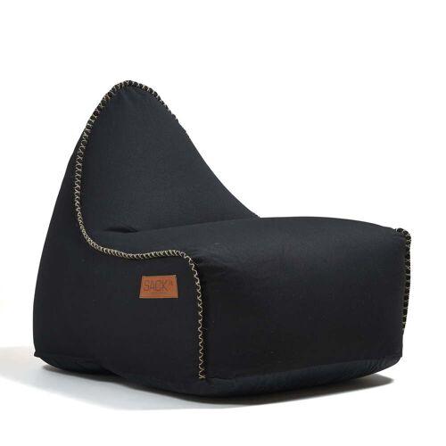 SACK it - RETRO it Indoor Sitzsack, schwarz