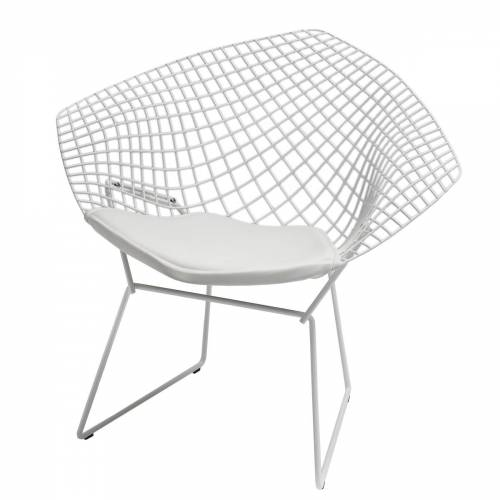 Knoll - Bertoia Diamond Outdoor-Sessel, weiß