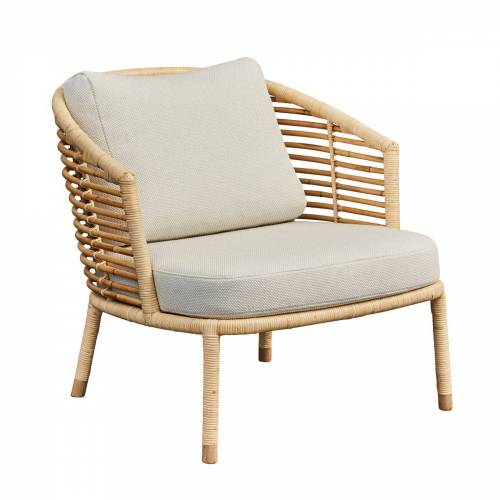 Cane-line - Sense Loungesessel Indoor, natur / off-white