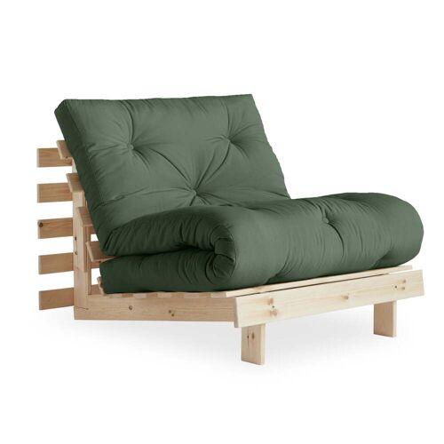 KARUP Design - Roots Schlafsessel 90 cm, Kiefer natur / olivgrün (756)